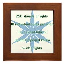 250 Strands of Light Framed Tile