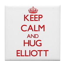 Keep Calm and HUG Elliott Tile Coaster