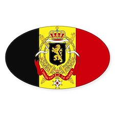 Belgium w/ coat of arms Rectangle Decal