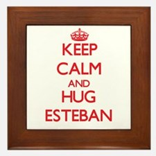 Keep Calm and HUG Esteban Framed Tile