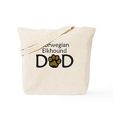 Norwegian Elkhound Dad Tote Bag