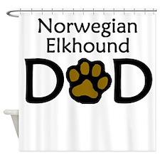 Norwegian Elkhound Dad Shower Curtain