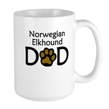 Norwegian Elkhound Dad Mugs