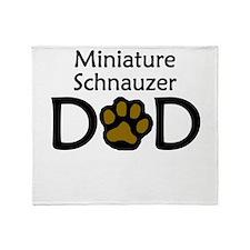 Miniature Schnauzer Dad Throw Blanket