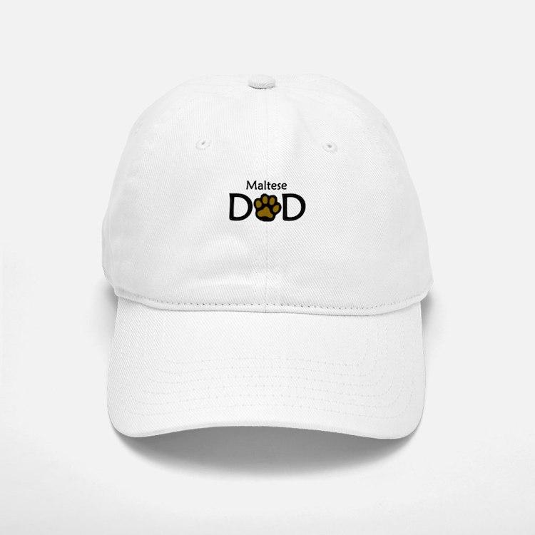 Maltese Dad Baseball Baseball Baseball Cap
