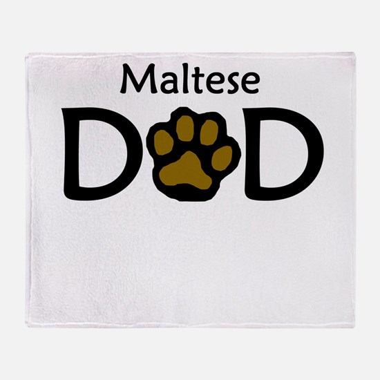Maltese Dad Throw Blanket
