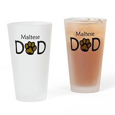 Maltese Dad Drinking Glass