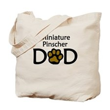 Miniature Pinscher Dad Tote Bag
