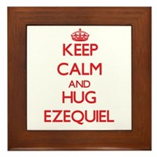 Keep Calm and HUG Ezequiel Framed Tile