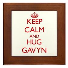 Keep Calm and HUG Gavyn Framed Tile