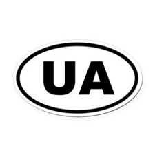 Ukraine UA Oval Car Magnet