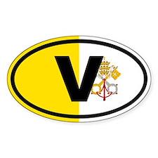 Vatican flag Decal