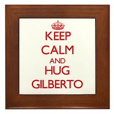 Keep Calm and HUG Gilberto Framed Tile