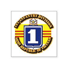 "ARVN - 1st Infantry Division Square Sticker 3"" x 3"