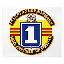 ARVN - 1st Infantry Division King Duvet