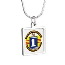 ARVN - 1st Infantry Division Silver Square Necklac