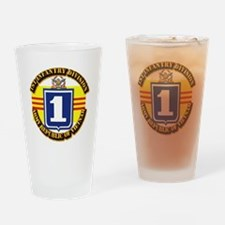 ARVN - 1st Infantry Division Drinking Glass