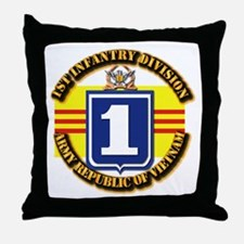ARVN - 1st Infantry Division Throw Pillow