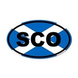 Scottish Oval Car Magnets