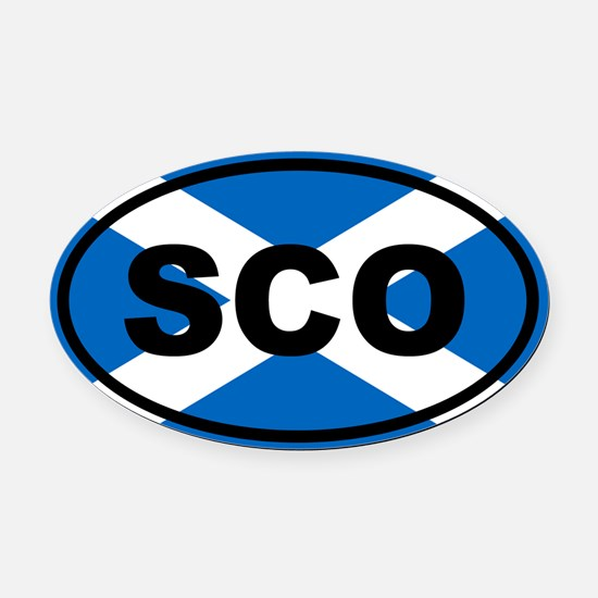 Scotland flag Oval Car Magnet