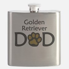 Golden Retriever Dad Flask