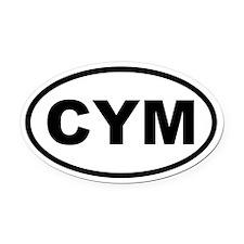 Wales CYM Oval Car Magnet