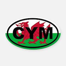 Wales CYM flag Oval Car Magnet