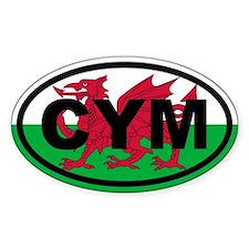 Wales CYM flag Decal