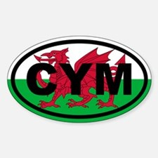 Wales CYM flag Decal