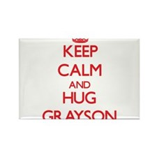 Keep Calm and HUG Grayson Magnets