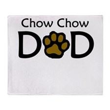 Chow Chow Dad Throw Blanket