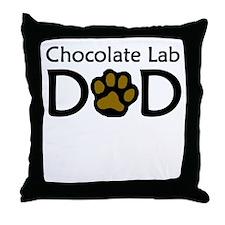 Chocolate Lab Dad Throw Pillow