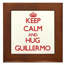 Keep Calm and HUG Guillermo Framed Tile