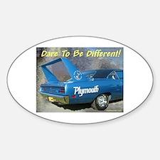 """""""Road Runner Superbird"""" Oval Decal"""