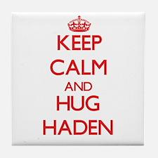 Keep Calm and HUG Haden Tile Coaster