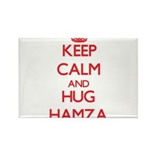 Keep Calm and HUG Hamza Magnets