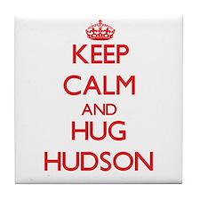 Keep Calm and HUG Hudson Tile Coaster