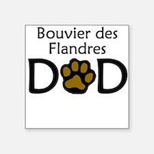Bouvier des Flandres Dad Sticker