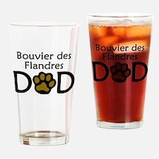 Bouvier des Flandres Dad Drinking Glass