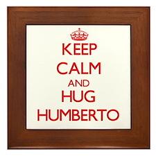 Keep Calm and HUG Humberto Framed Tile