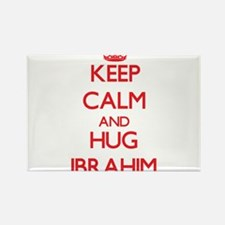 Keep Calm and HUG Ibrahim Magnets
