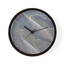 Swimming Upstream Wall Clock