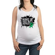 Liver Cancer Kick Butt Maternity Tank Top