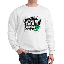Liver Cancer Kick Butt Sweatshirt