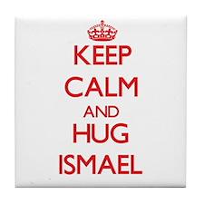 Keep Calm and HUG Ismael Tile Coaster