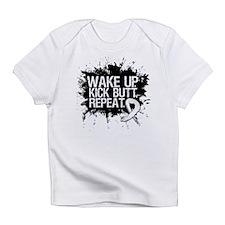 Lung Cancer Kick Butt Infant T-Shirt