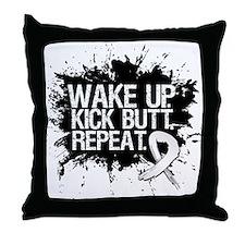 Lung Cancer Kick Butt Throw Pillow