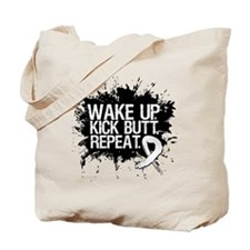 Lung Cancer Kick Butt Tote Bag