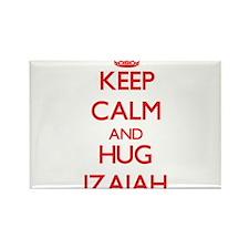 Keep Calm and HUG Izaiah Magnets