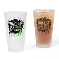 Lymphoma Kick Butt Drinking Glass